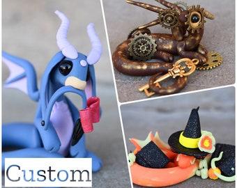 Custom Dragon - Polymer Clay