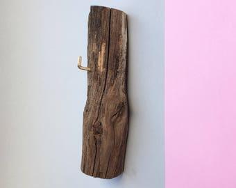 Wooden coat rack, reclaimed wood coat hanger, handmade wood, oak, for her, minimalist decor, key rack, for him, housewarming gift, 23x7cm