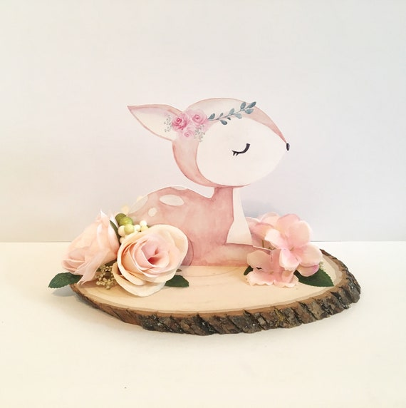 NEW Woodland Line! Baby Shower Decor Centerpieces REAL Wood Slice Art Nursery Decorations Flowers Floral Baby Showers Welcome Animal Cut Out