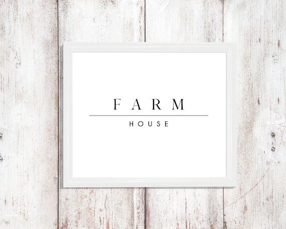 Farm House Decor Print Printable Instant Download Wall Art Decor Modern Digital Chic Style Modern Poster Gifts Mudroom Dining Room Kitchen