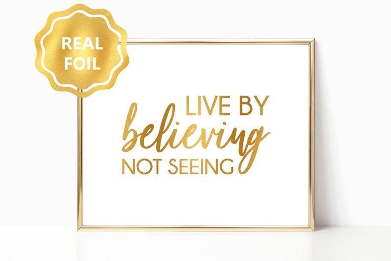 4caf8fca5a5a Christian Decor Real Gold Foil Print Wall Art Scripture Bible