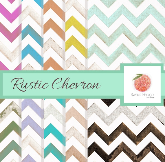 Scrapbook Paper Pack Rustic Chevron Digital Paper Shabby Background Instant Download Antique Shabby Chic Set Downloadable Distressed Worn