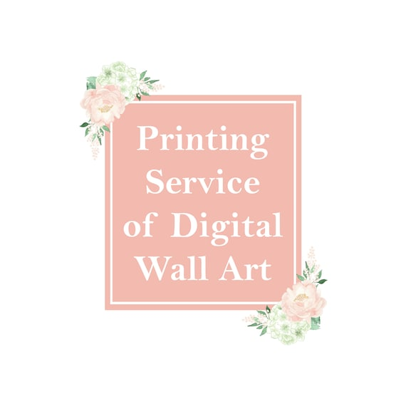Printing Service Of Digital Printables In Store Printed Print Wall Art Prints Poster Sweet Peach Art Design Home Decor Simply Add To Cart