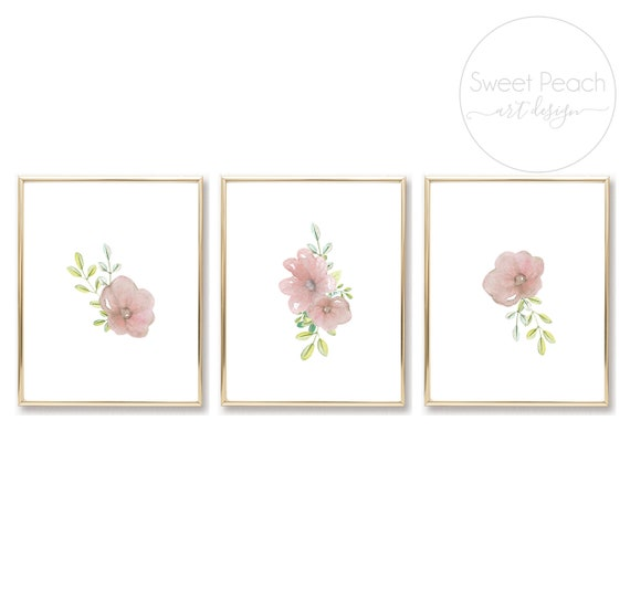 Flower Nursery Decor Australian Animal Wall Art Koala Bear Printed Prints Set Framed Outback Koala Set Australia Framed Safari Zoo Floral