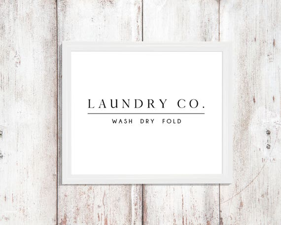 Laundry Room Sign Decor Wash Dry Fold Signs Digital Download Print Printable Instant Wall Art Modern Farm House Prints Farmhouse Laundry Co