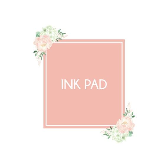 Fingerprint Ink Pad - Light Pink