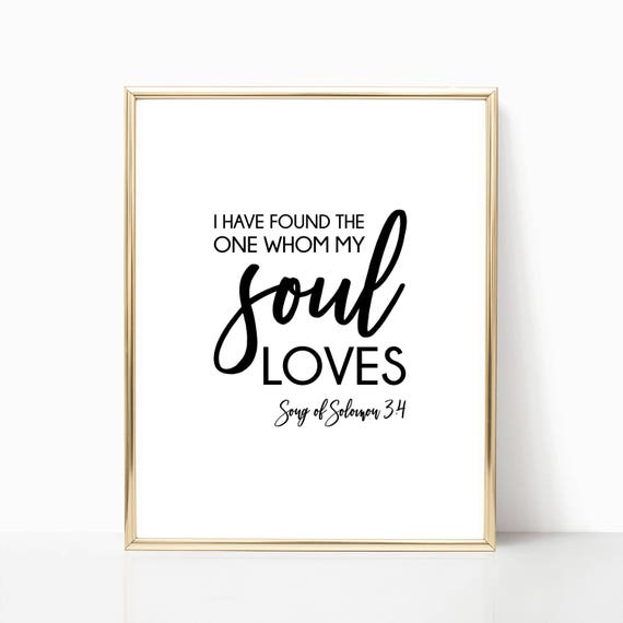 Christian Decor Wall Art Love Jesus Religious Gift Scripture Print Digital Printable Instant Download Faith God Song of Solomon 3 Quote Arts