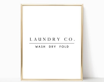 11x14 Laundry Room Sign Decor Wash Dry Fold Signs Digital Download Print Printable Instant Wall Art Modern Farm House Prints Laundry Co Room