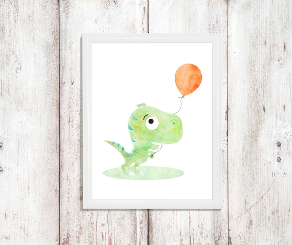 Nursery Dinosaur Decor Wall Art Printable Prints Gift Wall Art Digital Download Print Baby Boy Room Dinosaur Watercolor Little Boy Poster