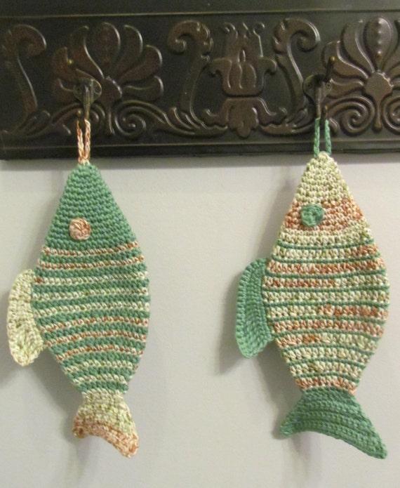 Fish Pot Holder Crochet Pattern Etsy