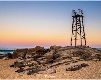 Redhead Beach and Shark Tower - original photograph