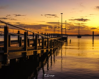 Sunset at Belmont Jetty - original photograph