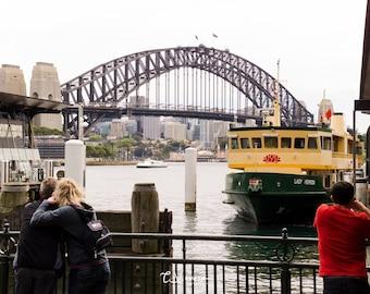 Sydney Harbour Bridge and Ferry - original photograph