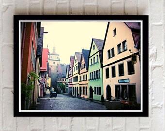 Rothenburg ob der Tauber, Rothenburg Germany, Digital Download, German photography, village, medieval town, Europe picture, Travel photo