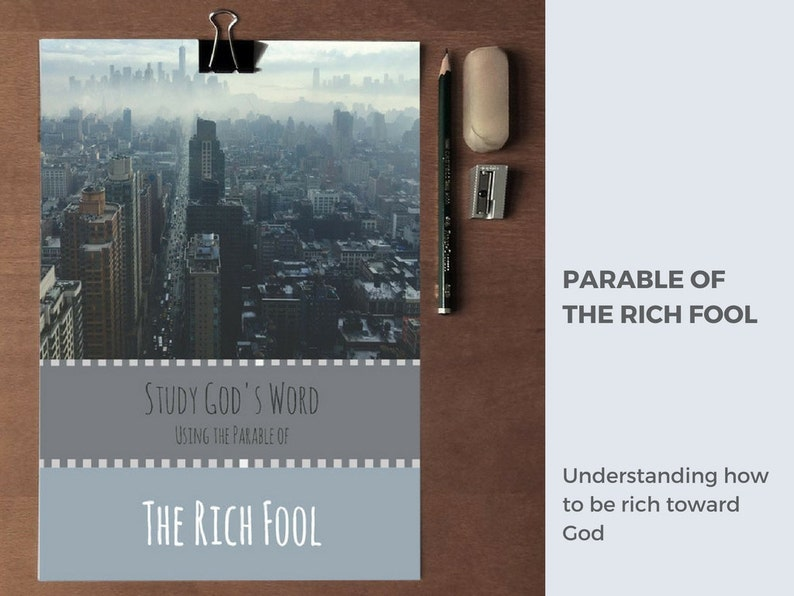 Bible Devotions for women and college students, the Parables of Jesus, The  Rich Fool, Bible PDF printable, Inductive bible study, booklet