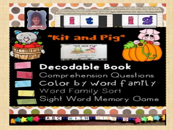 photo relating to Printable Decodable Books for First Grade called Printable Decodable Reader-Slide Themed-Sight Phrases, Phonics, Phrase Family members, Sorting, Coloring, Online games and Actions for Understanding in direction of Study