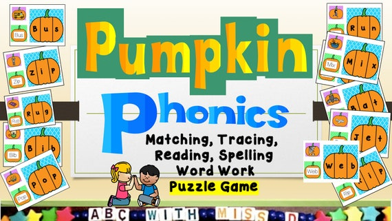 Halloween Pumpkin Theme Learning to Read Game-Teaching