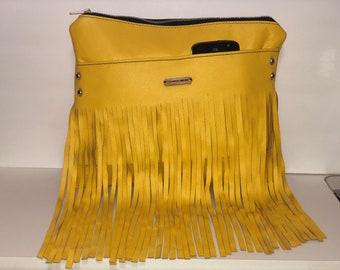 Yellow Fringe Clutch