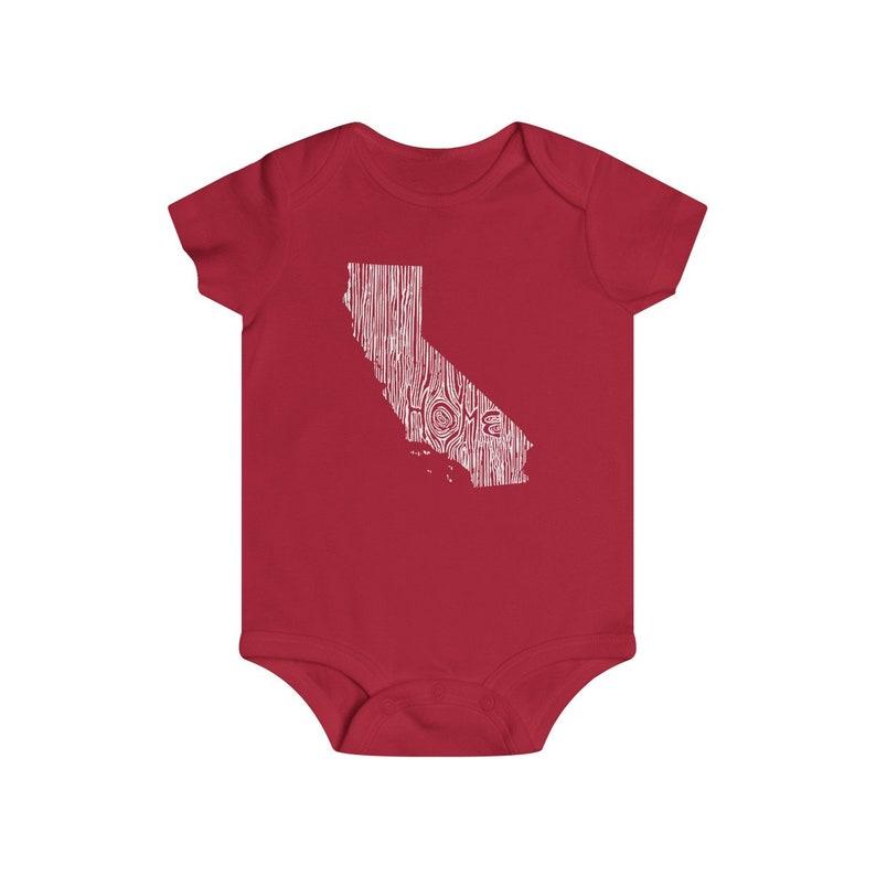 California Woodgrain Home State Baby Bodysuit