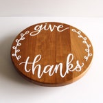 """Custom Hand Lettered Lazy Susan Turntable 10"""" or 12"""" Solid Wood MADE TO ORDER 