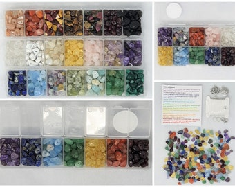 Loose Gemstone Crystal Chip Beads (with holes - drilled)