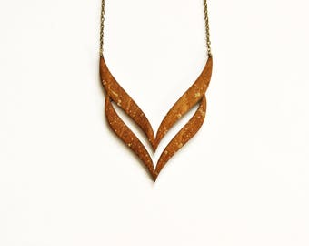 Statement Wooden Necklace -  Wooden pendant - Statement necklace - Laser cut wood necklace - Laser cut wooden pendant - 5th Anniversary gift