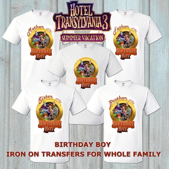 Personalised Kids T Shirt Hotel Transylvania Free P/&P Birthday Christmas Gift