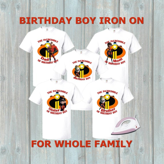 Incredibles 2 Birthday Boy Iron On Transfer For Family