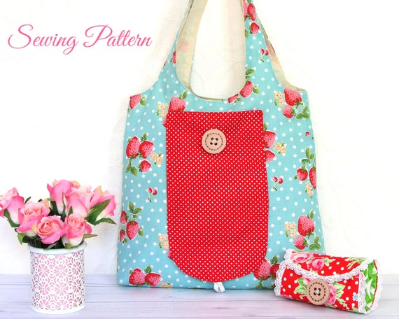 Grocery Bag Pattern Tote Bag Pattern Sewing Pattern Pdf Etsy