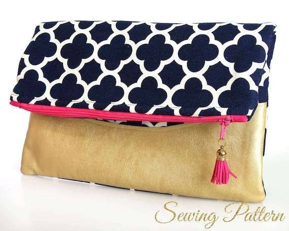 Folding Clutch Pattern Purse Pattern Sewing Pattern Pdf Etsy