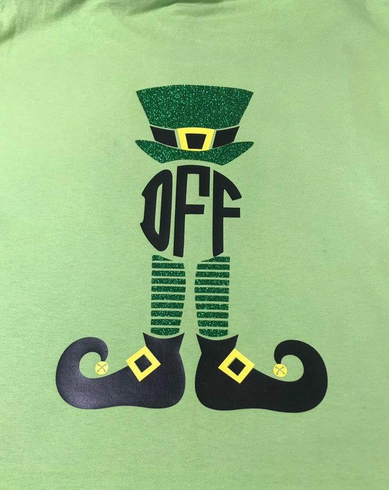 63500e101 St Patrick's Day Leprechaun Monogram Shirt | Etsy