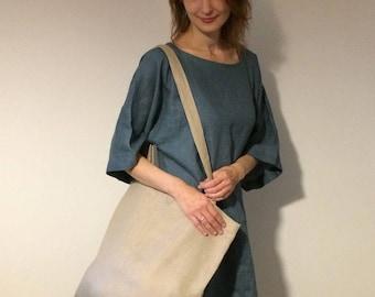 Bright Flax Color Tote Bag, Reusable Shopper Bag, Market Bag, Linen Tote, Shopping Bag, Eco Tote Bag