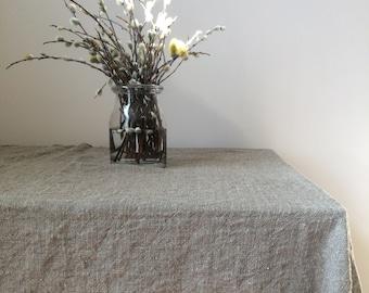 Linen Tablecloth   Rustic Tablecloth   Square Tablecloth   Farmhouse  Tablecloth   Natural Linen Tablecloth