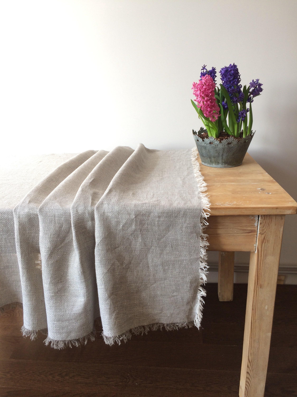 Linen Tablecloth, Natural Linen Table Cloth, Linen Tablecloth, Square  Tablecloth, Rectangle Tablecloth, Rustic Linen Tablecloth With Fringes