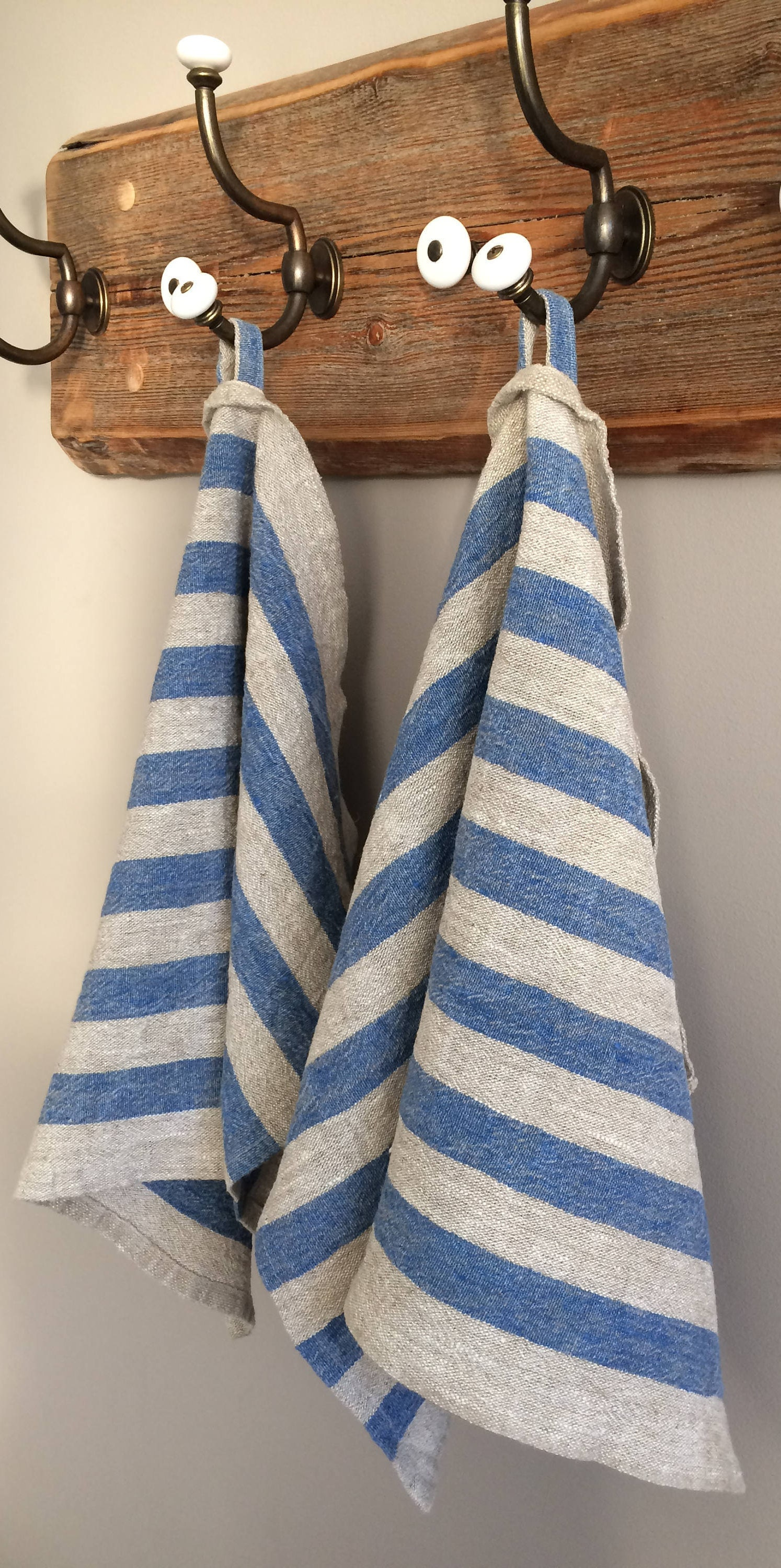 Linen Kitchen Towel Blue Striped Linen Tea Towel Striped