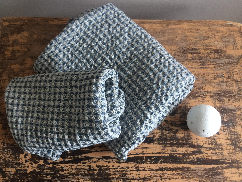 Bath And Face Towel Set Linen Towel Set Waffle Pattern Linen Bath