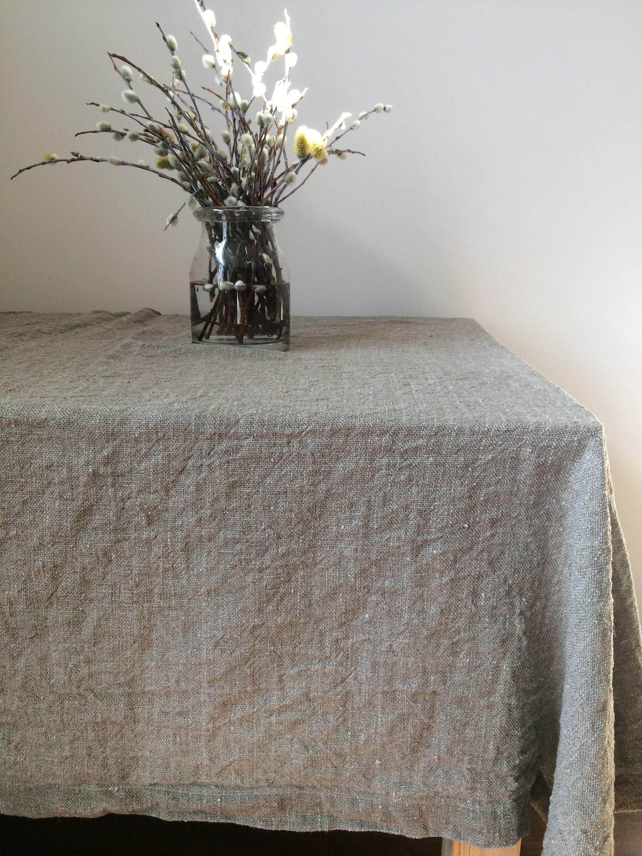 Linen Tablecloth | Rustic Tablecloth | Square Tablecloth | Farmhouse  Tablecloth | Natural Linen Tablecloth