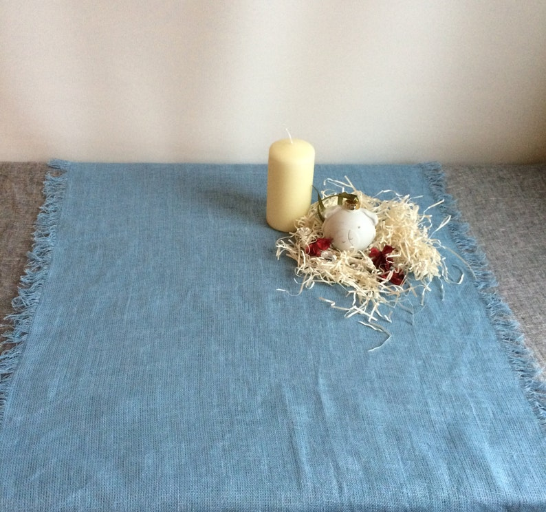 Wedding table runner Long table runner Light blue linen table runner