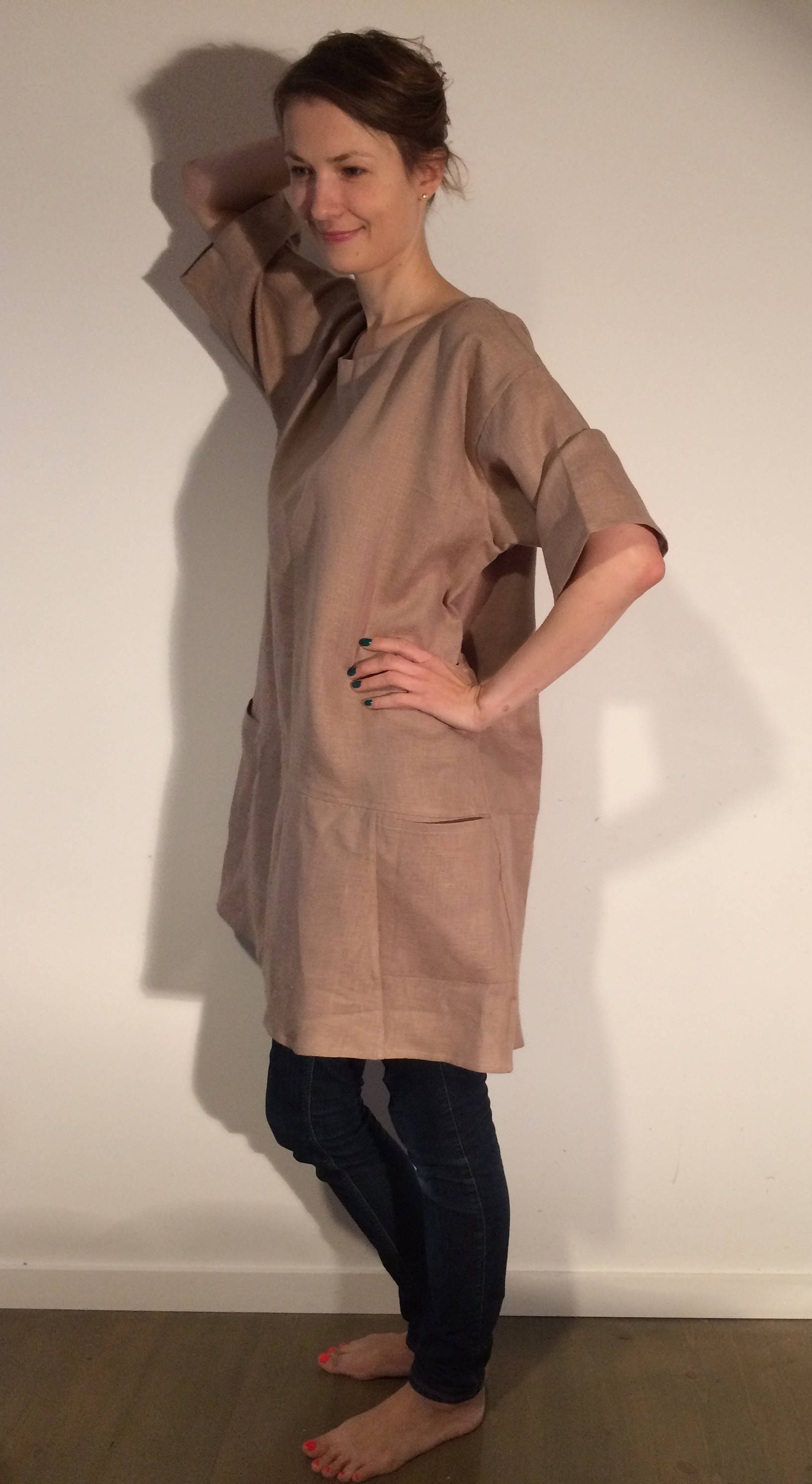 b30a156e8bd Tunic for Woman, Linen Tunic, Tunic with Pockets, Linen Shirt Woman ...