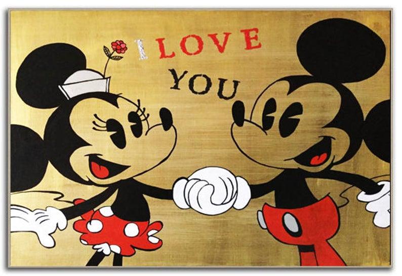 MICKEY Mouse Art, MINNIE Mouse Walt Disney Bedroom Decor Kids, Disney Art,  Wall Decor, Ready to Hang, Modern Wall Art - Kathleen Artist