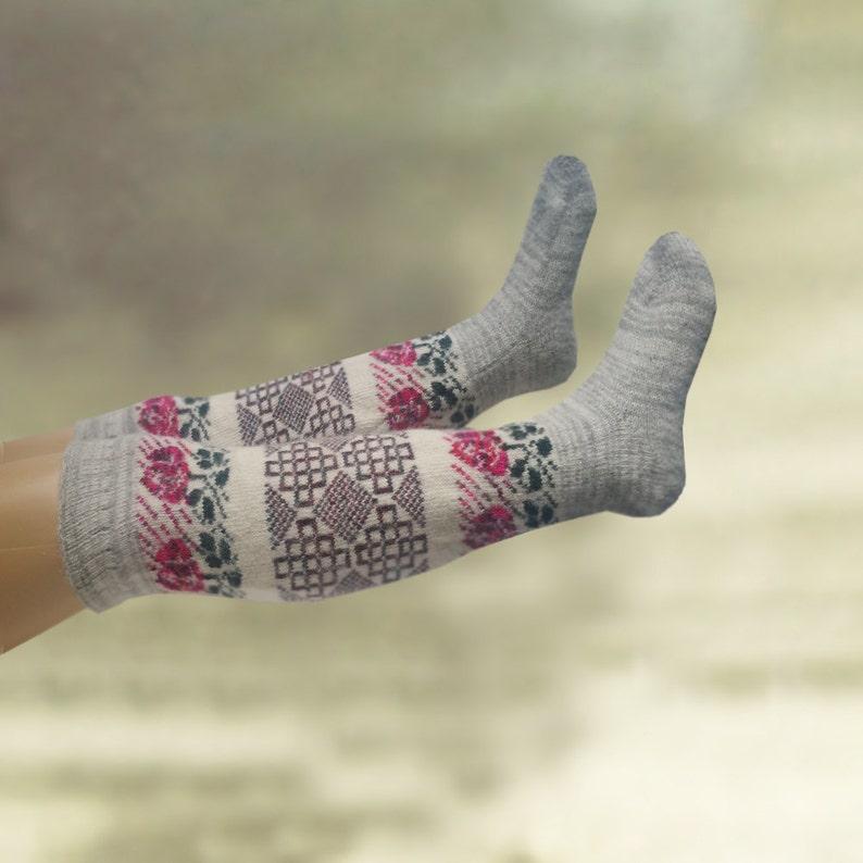 33eba1302f3 Knee high wool socks Wool over knee socks Fuzzy knee socks