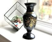 Bronze vase Black vase Ikebana vase Metal vase Brass vase Greek vase Oriental vase Chinese vase Decorative vase Asian vase Bud vase Art deco