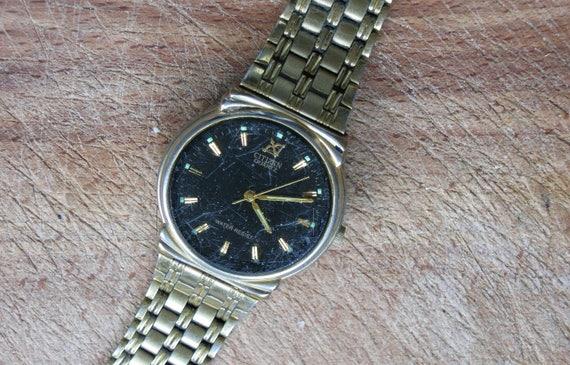ceadb6e217fa Working wrist watch CITIZEN Quartz Men s gold tone watch   Etsy