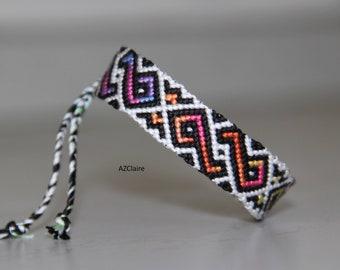 Friendship Bracelet multicolor gradient twist