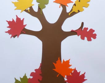 DIY Thankful Tree Craft Kit - Thanksgiving - Kids Crafts - Thankful Project - Fall Leaves - Tree of Thanks - Paper Crafts