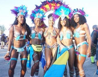 Caribbean carnival costume | Etsy