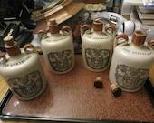 Pick One - The Greybeard Heather Dew Whiskey Jug Crock, Vintage Glasgow Scotland Stoneware Jug