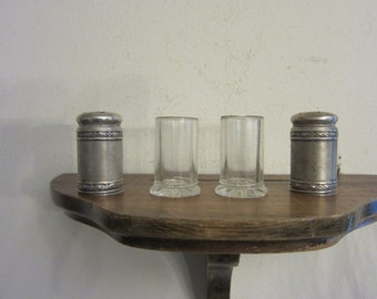 Antique Silver Salt & Pepper Shakers w/ free ship