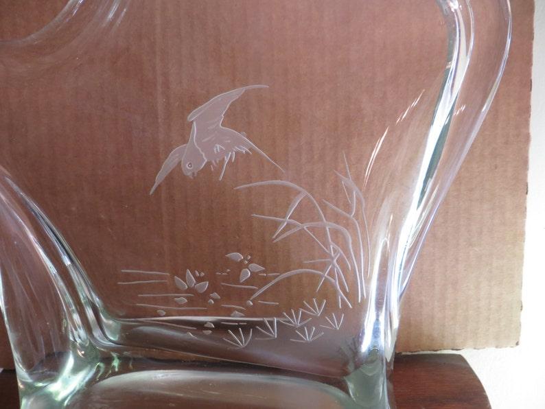 Vintage Art Glass Sculpture  w free ship