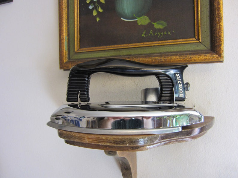 Vintage Kenmore Travel Iron with Folding Handle,